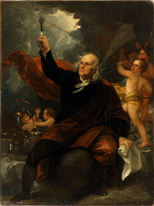 West_-_Benjamin_Franklin_Drawing_Electricity_from_the_Sky_(ca_1816)